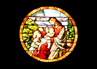 Stained Glass depiction of Jesus